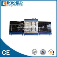 Vertical glass washing and drying machine