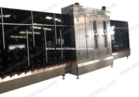 Open Top LOW-E Vertical Glass Washing Cleaning And Drying Machine