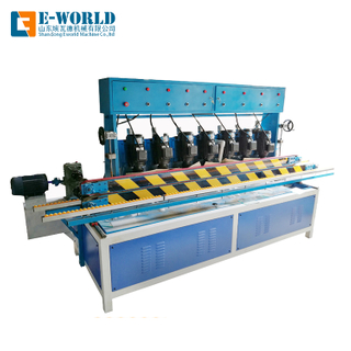 Horizontal 7 motors glass beveling machine