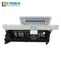 Straight line glass edging machine