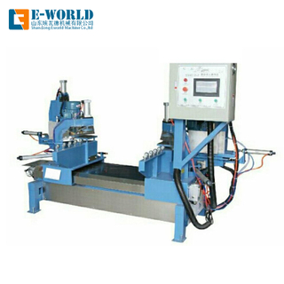 Double head glass corner edging machine