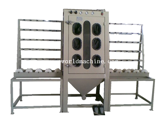 Economical Manual Vertical Glass Sandblasting Machine for Low-e Glass with Factory Price